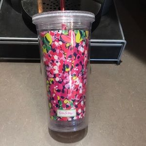 Lilly Pulitzer Dining - Lilly Pulitzer floral tulip reusable tumbler
